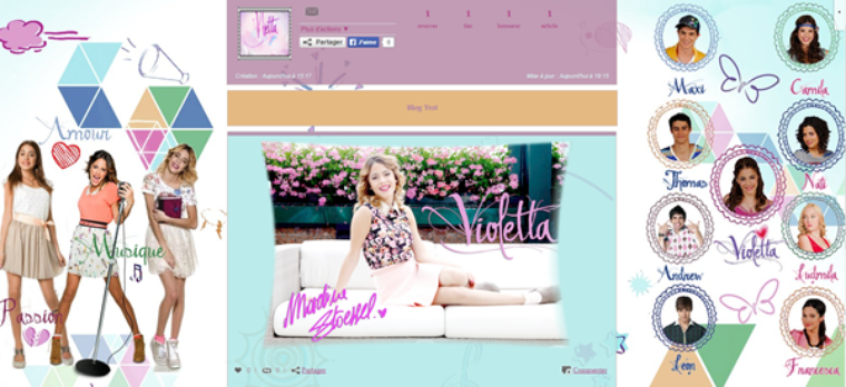Graphisme - Photographie - Violetta - Séries TV - People - Fictions - Martina Stoessel