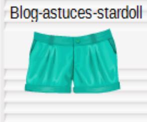 Short bleu-vert.