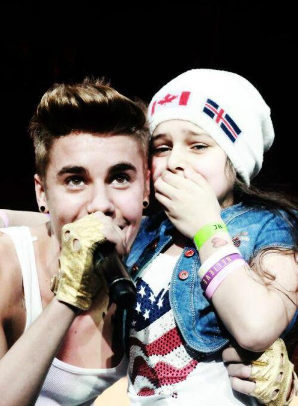 Justin et une fan