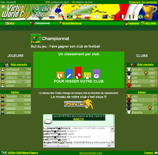 Pages en Championnat