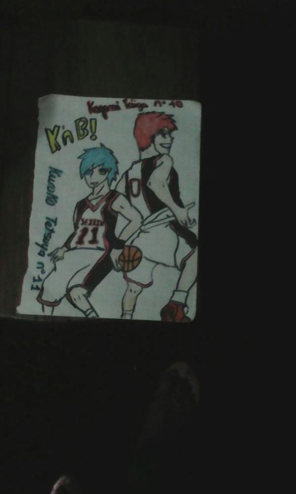 Petit Poster dessiner par moi de Kagami Taiga et Kuroko Tetsuya