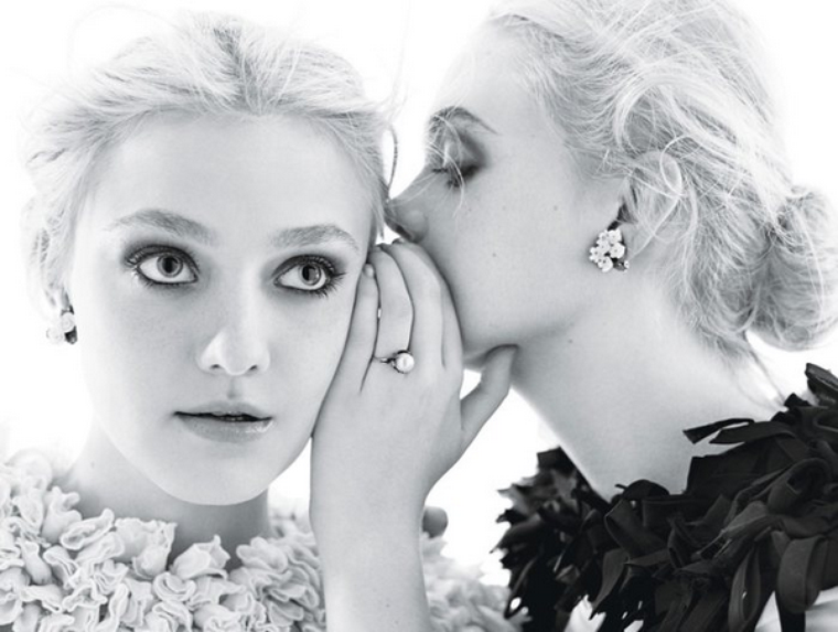 Dakota & Elle Fanning  for W Magazine ( December 2011 )