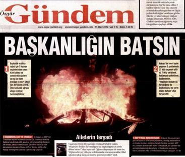 "Interdiction du journal turc Özgür Gündem : ""La répression d'Erdogan doit être unanimement condamnée"""