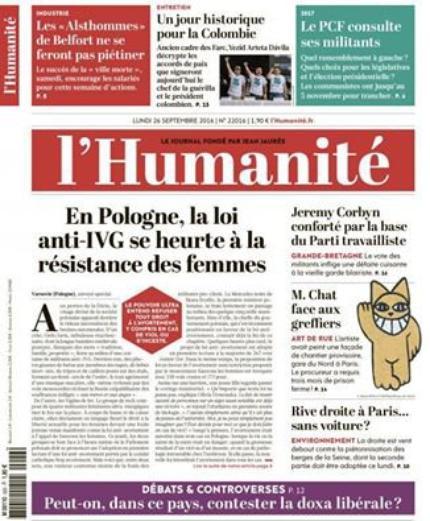 """L'Edito L'Huma du jour : """"Combat permanent"""""""