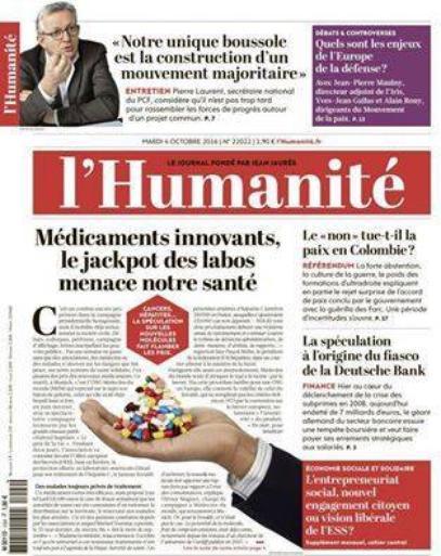 """L'Edito L'Huma du jour : """"Le coût de la vie"""""""