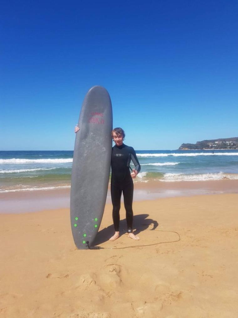En mode surf en australie !!