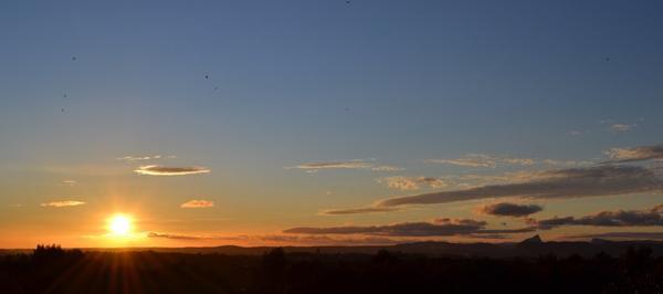 Admirer le soleil se coucher..