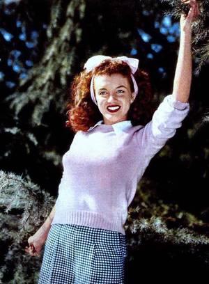 RENCONTRE avec De DIENES. Avant Marilyn, il y eut Norma Jeane... La vie du photographe de mode Andre De DIENES bascula le jour de 1945 où il rencontra une charmante apprentie mannequin nommée Norma Jeane DOUGHERTY. Il tomba immédiatement amoureux de sa fraîcheur et de son charme, et les deux jeunes gens se fiancèrent, un temps. Ensemble, ils aimaient se lancer sur les routes, à l'aventure, et De DIENES photographia Norma Jeane dans tous les cadres naturels possibles, dans le style original qui faisait sa patte. Il rassembla vite un impressionnant portfolio de clichés, qui aidèrent cette petite brune souriante à lancer sa carrière de mannequin et, quelques années plus tard, la carrière d'actrice de cinéma qui fit d' elle une légende.