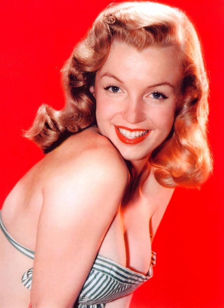 Quand notre jeune Marilyn fait la UNE, avec des photos de John MIELE et Laszlo WILLINGER en 1947.
