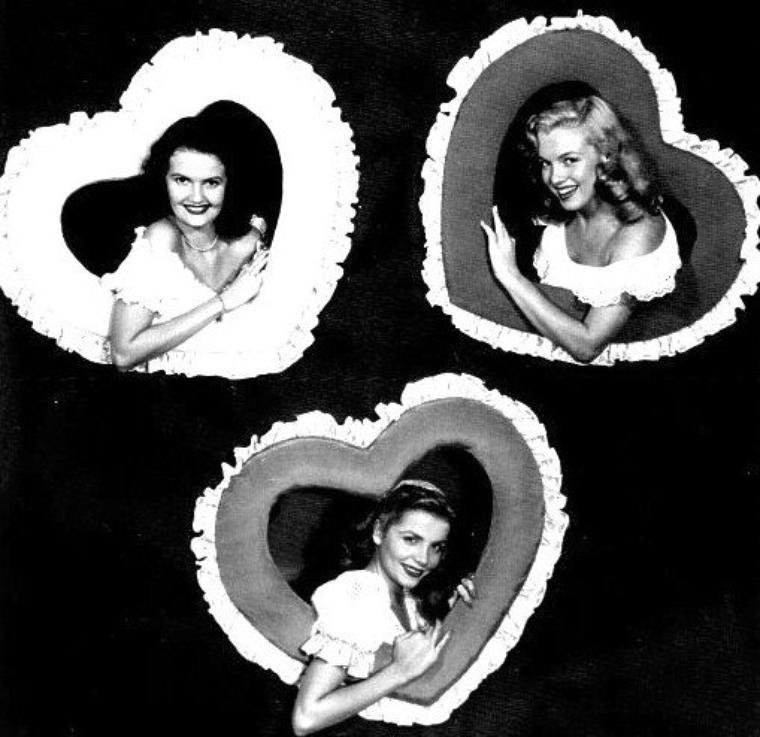 1948 : Les petites starlettes de la FOX sous l'objectif de Bruno BERNARD dit Bernard of Hollywood avec lequel Marilyn posa alors qu'elle s'appelait Norma Jeane (article dans le blog).