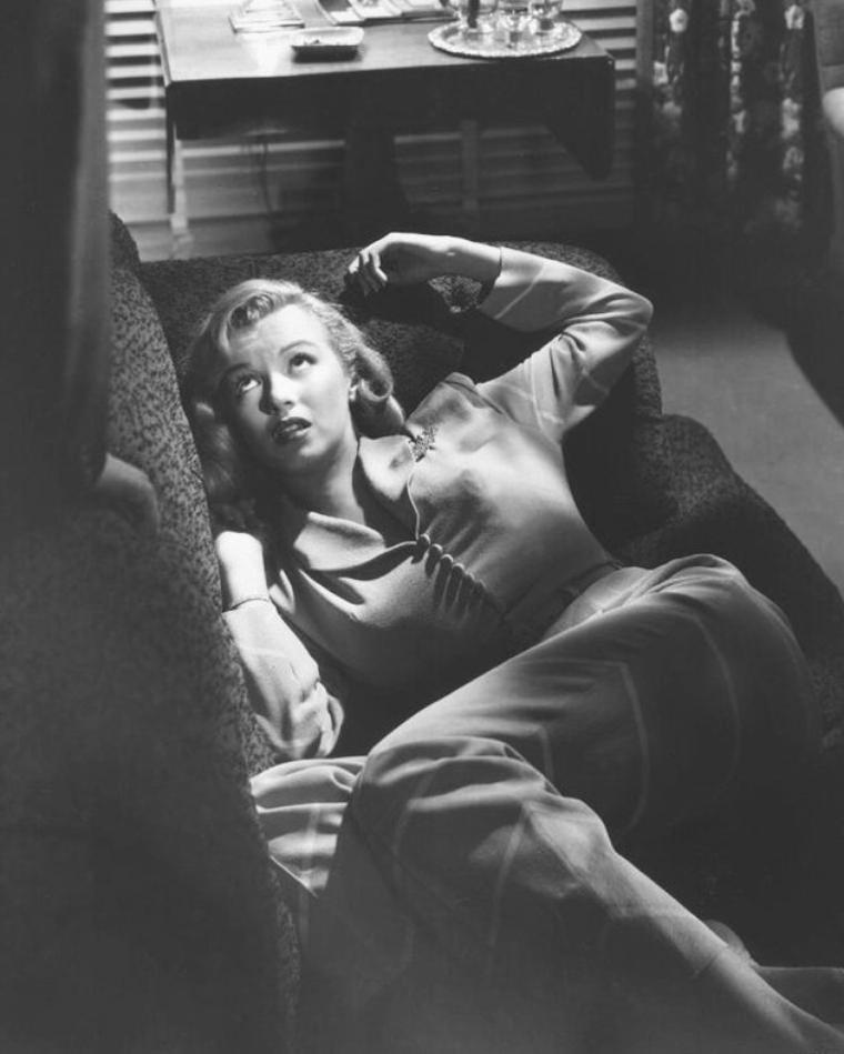 "Backstages et photos publicitaires du film ""The asphalt jungle""."