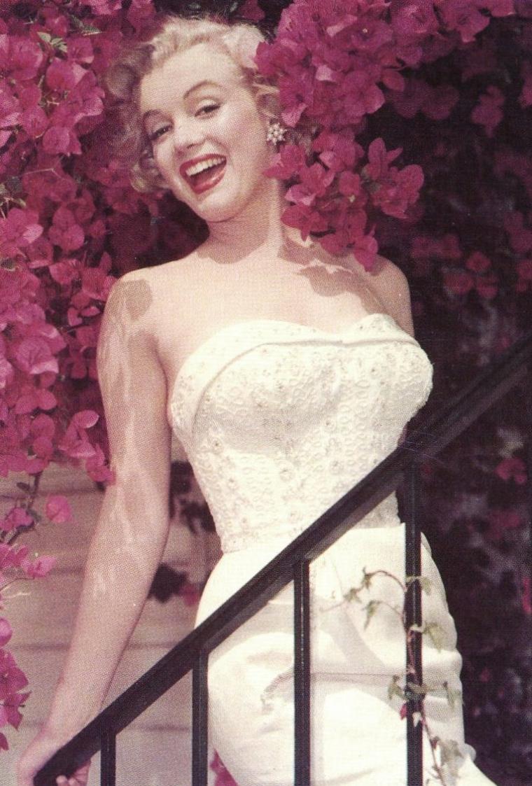 """1951, Marilyn tourne dans """"Let's make it legal"""" son 11ème film. Photos promotionnelles du film avec les acteurs Macdonald CAREY, Zachary SCOTT, Claudette COLBERT et Barbara BATES et quelques clichés de Don ORNITZ."""