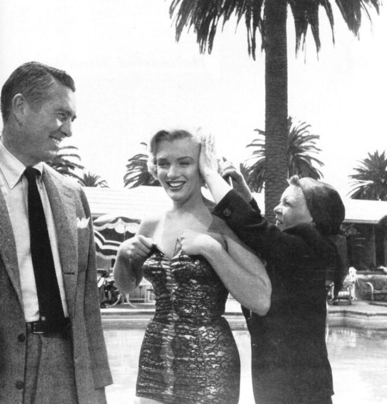 "1951, backstages et photos publicitaires du film ""Let's make it legal"" où Marilyn donne la réplique, entre autres, au jeune premier Robert WAGNER (photos)."
