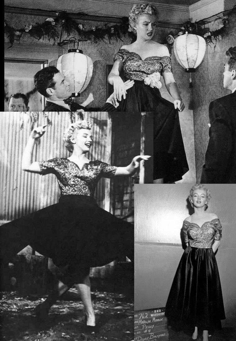"""1952 : """"Clash by night"""" (Le démon s'éveille la nuit) de Fritz LANG /Synopsis / Mäe DOYLE revient chez elle après de nombreuses années d'absence pour retrouver son frère épris d'une employée d'une conserverie de poisson, Peggy (Marilyn). Ce frère craint que Peggy, qui aime les émotions fortes, ne devienne à son tour comme Mäe, dure et fatiguée. Mäe, après une aventure avec un ami de son frère épouse son véritable amour, un capitaine de bateau de pêche, Jerry."""