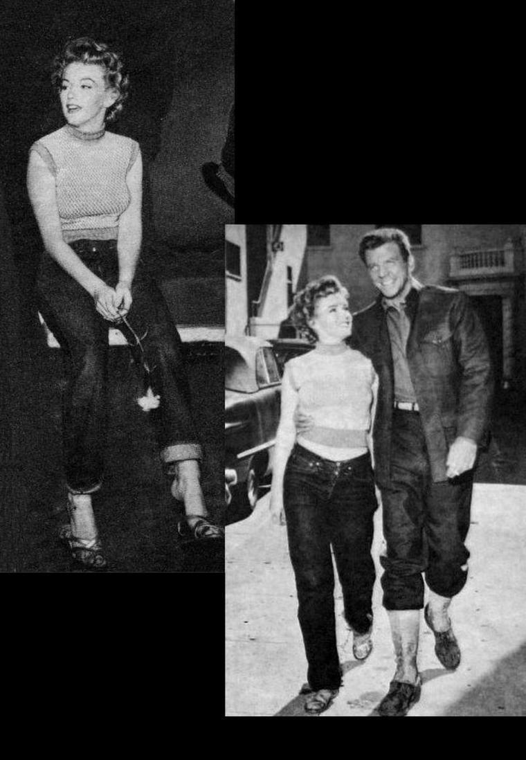"""1952, Marilyn sur le plateau du film """"Clash by night"""" (Le démon s'éveille la nuit)."""