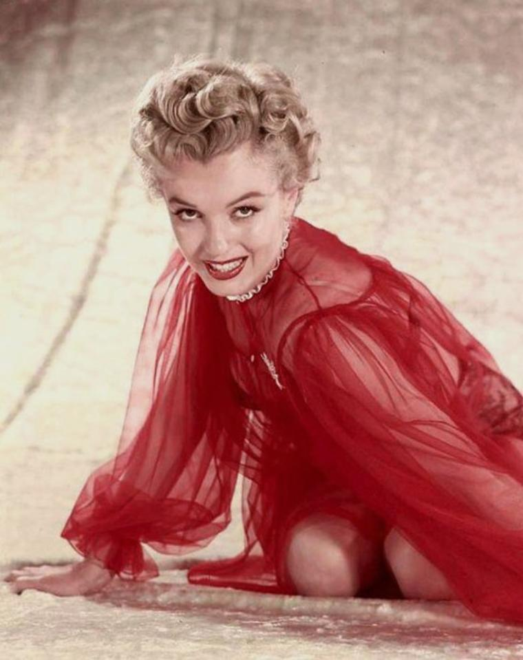 1952, session photos de Marilyn par David PRESTON.