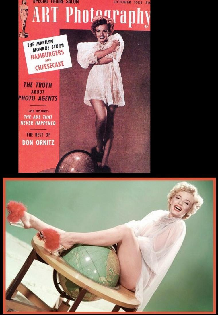"1952, Marilyn pose pour Frank POWOLNY pour des clichés publicitaires du film ""We're not married""."