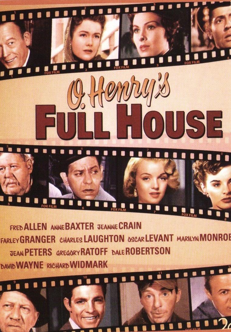 """1952, Marilyn tourne dans """"O'Henry's full house"""" (La sarabande des pantins) réalisés respectivement par Henry HATHAWAY, Howard HAWKS, Henry KING, Henry KOSTER et Jean NEGULESCO. C'est un film composé de 5 sketches (1er sketche avec Marilyn et Charles LAUGHTON, """"The cop and the anthem"""") / SYNOPSIS / Soapy est un clochard à New York qui va tout entreprendre pour se faire emprisonner afin de se mettre à l'abri d'un froid hivernal. Par exemple, il accoste une femme (Marilyn) dans la rue en espérant qu'elle appellera la police mais il s'agit d'une prostituée, alors il s'en va. Il a un ami nommé Horace..."""