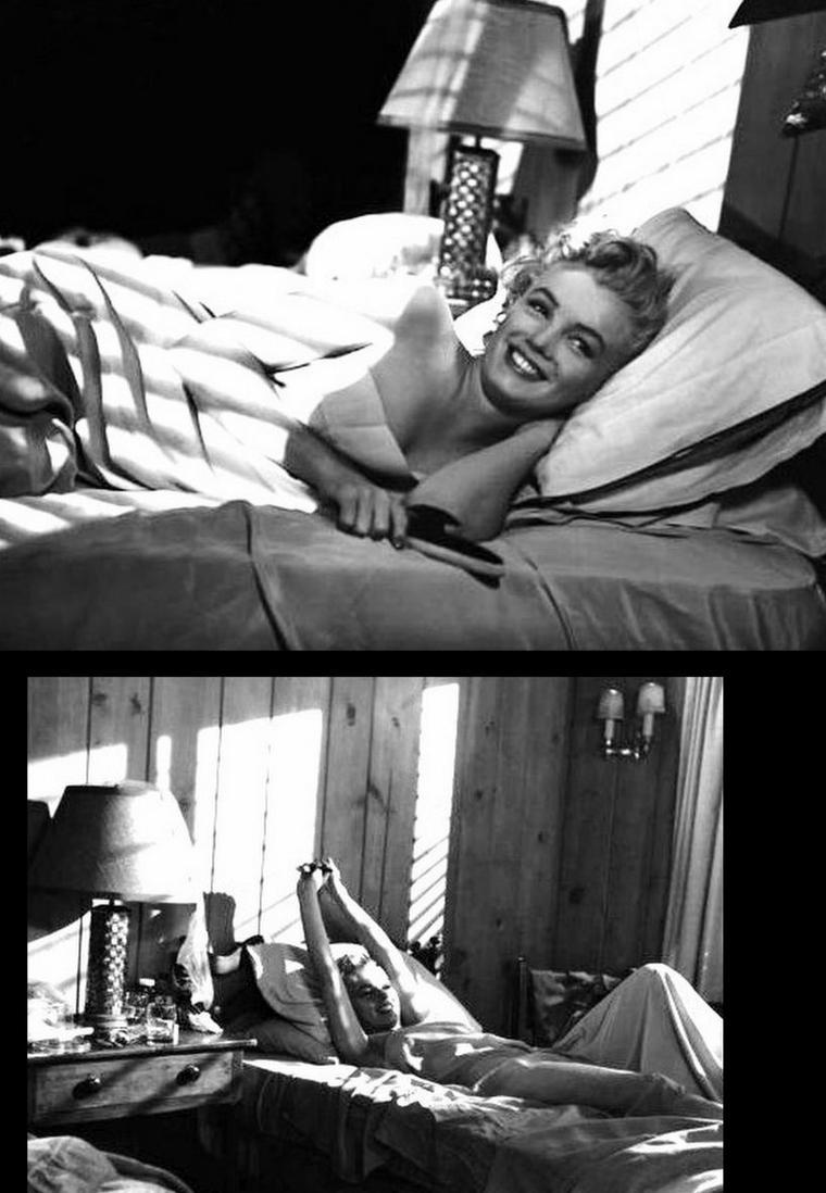"""1952-53 """"Niagara"""" d'Henry HATHAWAY / SYNOPSIS / Ray et Polly CUTLER arrivent aux chutes du Niagara pour une semaine de vacances. Le logement où ils doivent résider est encore occupé par un couple, George et Rose LOOMIS (Marilyn). Lors d'une promenade sur le site, Polly voit Rose LOOMIS dans les bras d'un inconnu. Le soir même à la résidence, George, dans un accès de mauvaise humeur, casse le disque que Rose est en train d'écouter, se blessant légèrement à la main. Alors qu'il se fait soigner, sa femme en profite pour téléphoner, et demande à son interlocuteur d'agir. Au matin suivant, Rose annonce la disparition de George au couple CUTLER. Tous les trois se rendent à la morgue, car le corps d'un homme a été retrouvé. Rose est prise d'un malaise quand elle reconnaît le corps de son amant, on doit l'envoyer à l'hôpital. Polly surprend George qui est revenu à la résidence, pour tuer la femme adultère. Elle le retrouve un peu plus tard, et celui-ci lui fait des confidences. L'inspecteur Starkey qui est chargé de l'affaire informe Polly de la fuite de Rose. Cette dernière a finalement été étranglée par son mari qui prend la fuite à bord d'un canot. Il disparaît dans le tumulte des chutes."""