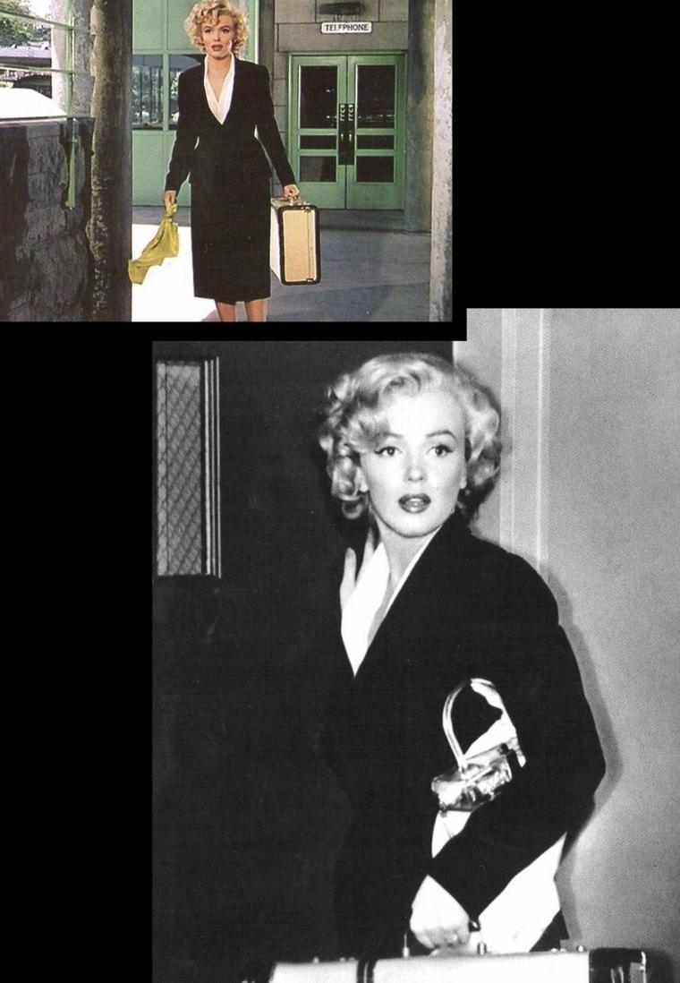 """1952-53 """"Niagara"""" d'Henry HATHAWAY / Commentaire / En 1952, """"Niagara"""" est le premier grand rôle de Norma Jeane BAKER, rebaptisée Marilyn MONROE, la petite starlette qui s'acharne dans les studios de la Twentieth Century Fox depuis six ans, convaincue qu'elle deviendra une grande star. Et même si le grincheux Henry HATHAWAY prétendit le regretter (Marilyn n'était-elle pas insupportablement perfectionniste devant une caméra ?), il fit bien d'embaucher la blonde actrice pour le rôle diabolique de Rose LOOMIS, la femme adultère et meurtrière. Car d'un banal polar, """"Niagara"""" se transforma ainsi en un film à la facture quasi hitchcockienne, où la frustration sexuelle est le moteur des actes de chaque individu."""