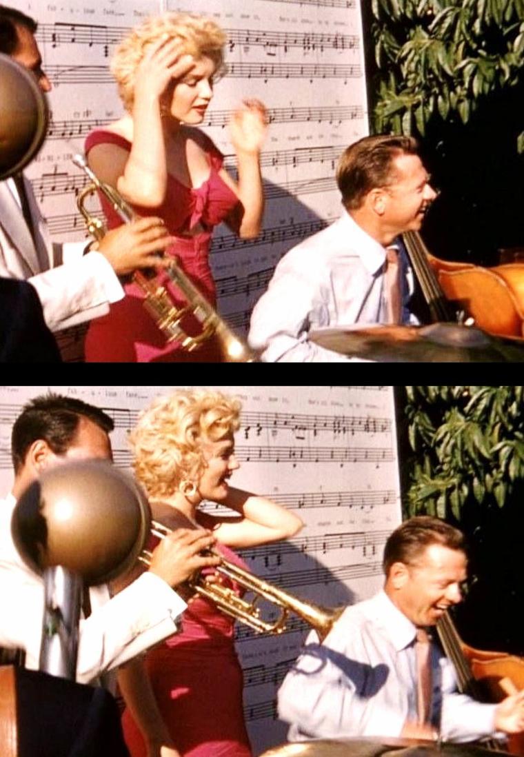 """1952 """"The Ray ANTHONY party"""" (part 7) / Ray ANTHONY, mini-bio / Ray ANTHONY (Raymond ANTONINI) est un trompettiste et chef d'orchestre de jazz américain né à Bentleyville (Ohio) le 20 janvier 1922.  Raymond ANTONINI nait en 1922, à Bentleyville. Sa famille s'établit à Cleveland (Ohio). Là, à l'âge de 5 ans, il commence à apprendre la trompette. En 1938, il commence sa carrière dans l'orchestre d'Al DONAHUE. De novembre 1940 à juillet 1941, il est membre du """"big band"""" de Glenn MILLER. Après six mois dans l'orchestre Jimmy DORSEY, il rejoint en 1942, durant la Seconde Guerre mondiale, un orchestre de danse de la Navy basé dans le Pacifique qu'il dirige jusqu'en 1946. En 1946, revenu à la vie civile, il forme son propre orchestre sous l'égide de la firme Capitol. Cette formation est plus un orchestre de danse qu'un réel """"big band"""" de jazz. On y retrouve cependant des jazzmen comme Conte CANDOLI, Plas JOHNSON, Conrad GOZZO, Mel LEWIS, Alvin STOLLER. L'orchestre connaît, jusqu'à la fin des années 1950, un grand succès commercial. Entre 1946 et 1960, l'orchestre enregistre une centaine de lp et plus de 500 « singles ». Des reprises de thèmes comme """"Dancing in the dark"""", """"Peter GUNN"""", """"Dragnet"""", """"The Bunny Hop"""", """"Harbor Lights"""" deviennent, à l'époque, des tubes. Ray ANTHONY et son orchestre apparaissent dans une dizaine de films hollywoodiens (dont « Papa longues jambes » aves Fred ASTAIRE en 1955). Ils travaillent aussi beaucoup pour la télévision (ANTHONY anime différents shows réguliers pour les chaînes ABC puis CBS). Dans les années 1960, l'âge d'or des """"big bands"""" étant terminé, Ray ANTHONY se produit en sextet accompagnant un duo vocal féminin. Son spectacle, la « Bookend Revue », est à l'affiche pendant plusieurs années à Las Vegas avant d'être présentée lors de tournées internationales. En 1976, Ray ANTHONY fonde sa propre compagnie de disques, « Space Records »..."""
