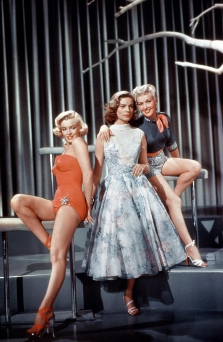 "1953 ""How to marry a millionaire"" (Comment épouser un millionnaire) de Jean NEGULESCO / LE TRIO, Marilyn, Lauren BACALL et Betty GRABLE (part 3)."