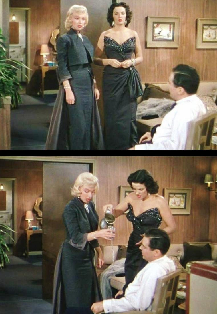 """1953 """"Gentlemen prefer blondes"""" (Les hommes préfèrent les blondes) de Howard HAWKS."""