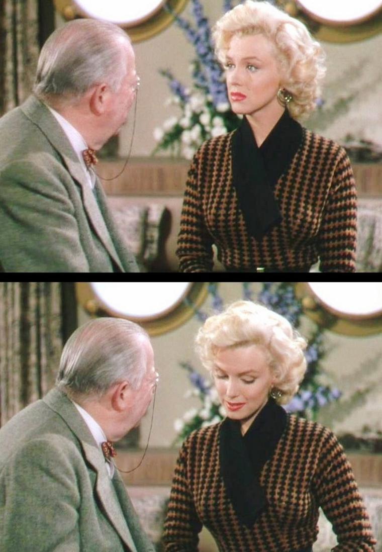 """1953 """"Gentlemen prefer blondes"""" (Les hommes préfèrent les blondes) de Howard HAWKS / HISTOIRE (part 2)  / Soyez-en sûr, même dans la musique, vous trouverez la continuité du blond, les organisateurs ont prévu """"une étude des différentes femmes ayant interprété le fameux 'Diamonds Are a Girl's Best Friends'. De Marilyn à Madonna…'  Le titre incongru est fait pour provoquer, les réactions qu'il suscite sont passionnelles, rapportent Marie-Camille et Tristan :  'En empruntant le titre du célèbre film d'Howard HAWKS , nous avons cherché à créer un peu de distance pour aborder ce sujet, pourtant sérieux, avec humour.  C'est aussi évidemment un clin d'oeil à la plus célèbre des blondes, Marilyn MONROE, qui sera très présente lors de ces journées. Et puis, faire entrer Marilyn à l'université, cela aurait été son rêve !  En partant de cette icône, nous voulons interroger les différentes représentations de la blondeur dans les arts. Les intervenants se sont approprié ce sujet avec bonheur et feront revivre avec nous des figures de blondes plus ou moins célèbres, et parfois inattendues.'"""