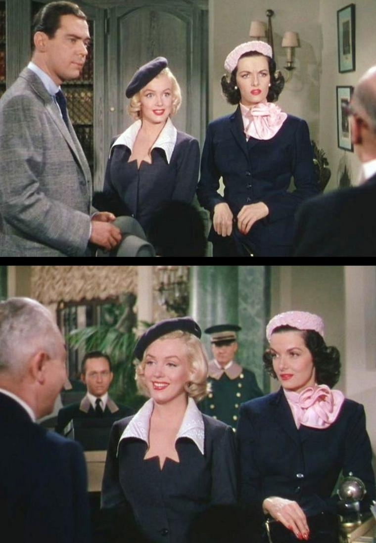 "1953 ""Gentlemen prefer blondes"" (Les hommes préfèrent les blondes) de Howard HAWKS / Passage dans le film où Marilyn et Jane arrivent à Paris. C'est à la terrasse d'un café qu'elles chanteront ""When love goes vrong"" / PAROLES de la chanson / When love goes wrong, nothing goes right This one thing I know When love goes wrong, a man takes flight And women get petty hope The sun don't beam The moon don't shine The tide don't even flow A clock won't strike A match won't light When love goes wrong, nothing goes right The blues all gather 'round you and day is dark as night A man is fit to live with and a woman's a sorry sight A woman's a fright, a terrible sight A man goes out, gets high as a kite, Love is something you just can't fight You can't fight it, honey you can't fight it When love goes wrong, nothing No bars, honey, just stand by and old Nothing goes right It's like we said You're better off dead When love has lost it's glow So take this down in black and white When love goes wrong, nothing goes right."