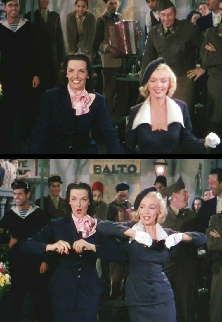 """1953 """"Gentlemen prefer blondes"""" (Les hommes préfèrent les blondes) de Howard HAWKS / """"When love goes wrong..."""" (part 3)."""