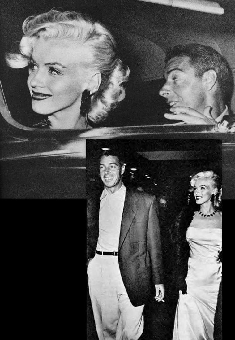 """1er Janvier 1953, c'est au bras de son fiancé Joe DiMAGGIO que Marilyn se rend à la soirée du Nouvel An organisée au """"Coconut-grove"""" de l'Ambassador Hôtel ; on pourra y voir entre autres, Louella PARSONS, Donald O'CONNOR ou encore Cole PORTER."""