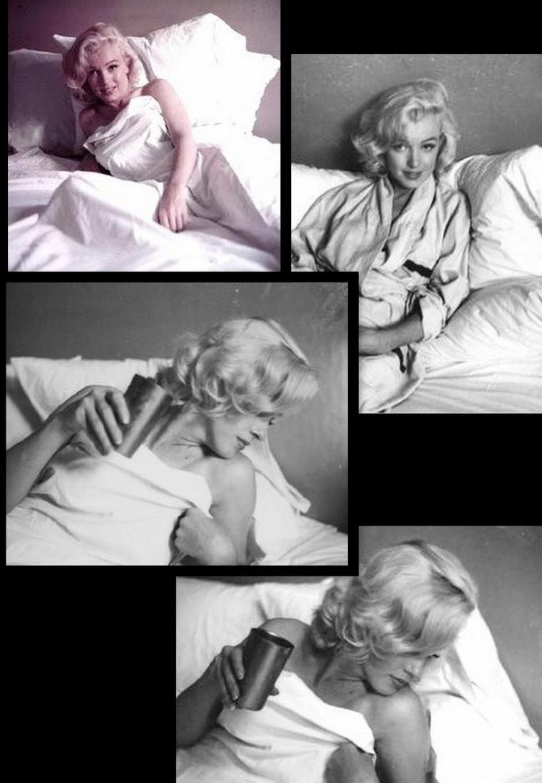 "1953 Marilyn by Milton GREENE, session ""in the bed"" (part 2)."
