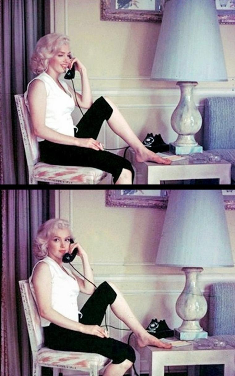 "1953, Marilyn by Milton GREENE, session ""SCHENCK House"" (part 2)."