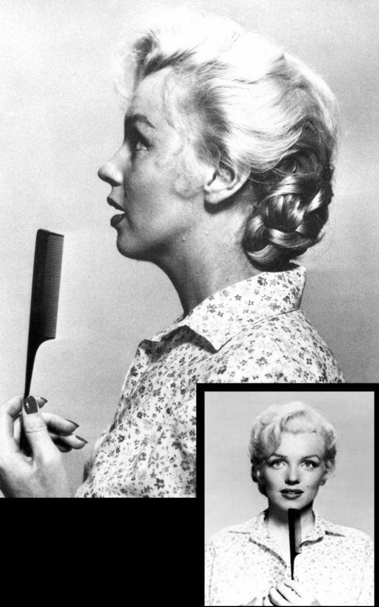 """1953, tests costumes et coiffures pour le film """"River of no return"""" d'Otto PREMINGER."""