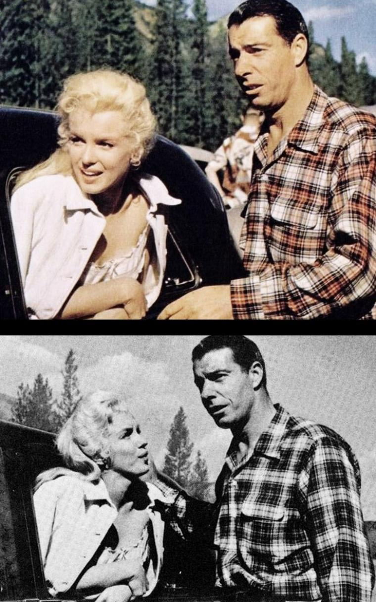 """River of no return"" (La rivière sans retour) d'Otto PREMINGER / Quand joe rejoint Marilyn sur le tournage en apprenant son accident..."