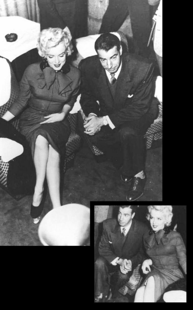 """Conférence de presse (part 3). Marilyn et Joe sont présentés au Président du journal """"Yomiuri"""", Shoji YASUDA."""