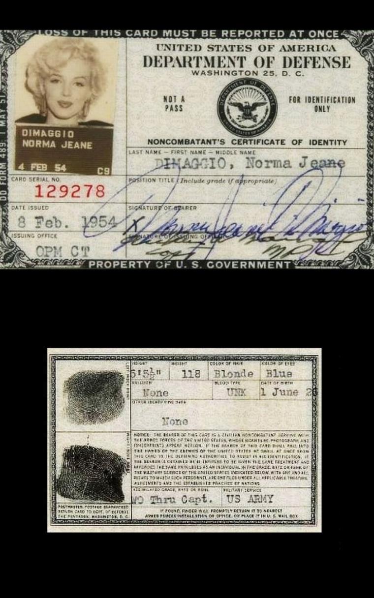 1954, toujours en visite, Marilyn et Joe se rendent à la base militaire sur l'île de Kyùshù. Ensuite, ils reprennent l'avion afin de se rendre à Yokohama, où dès leur arrivée sur le tarmac de l'aéroport, se voient offrir en cadeau de mariage, une petite statuette de porcelaine Hakata. / Marilyn reçoit sa carte d'identification militaire, papier officiel pour se rendre à Séoul, en Corée du sud, en vue de sa tournée.