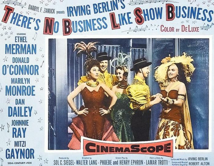 "1954, DIVERSES AFFICHES du film ""There's no business like show business"" (La joyeuse parade) de Walter LANG."