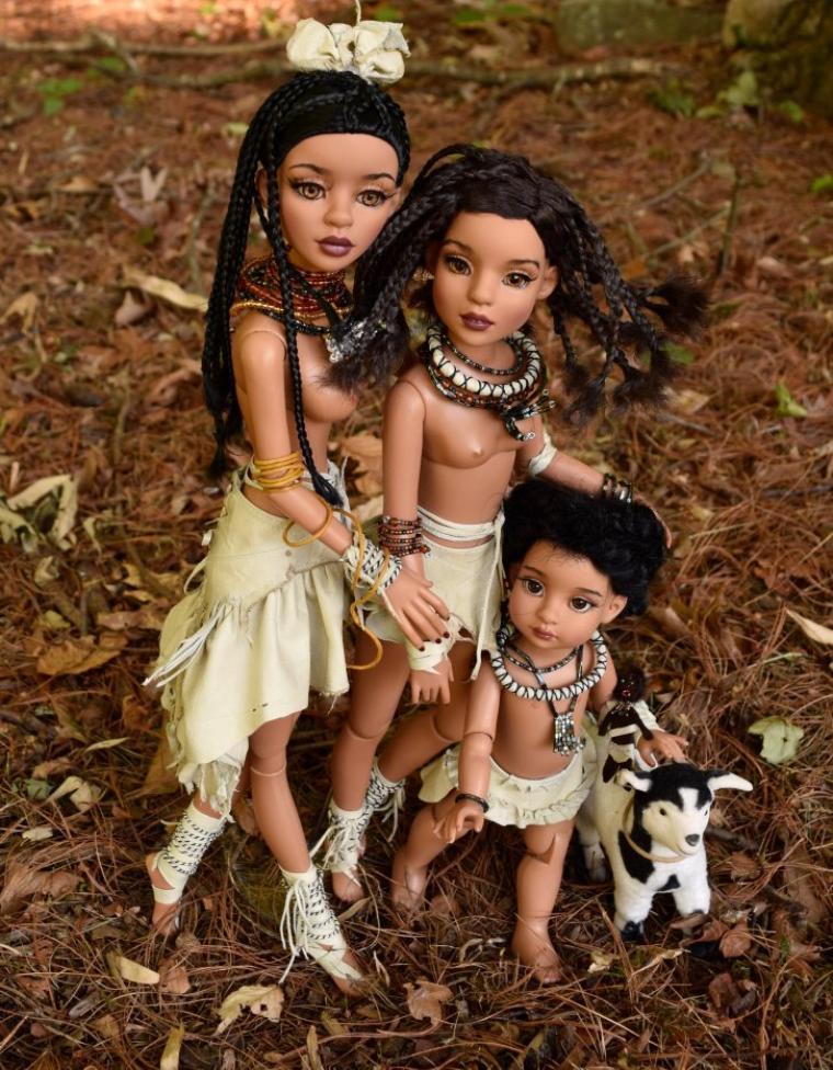 De belles poupées d'artiste vues sur le net.