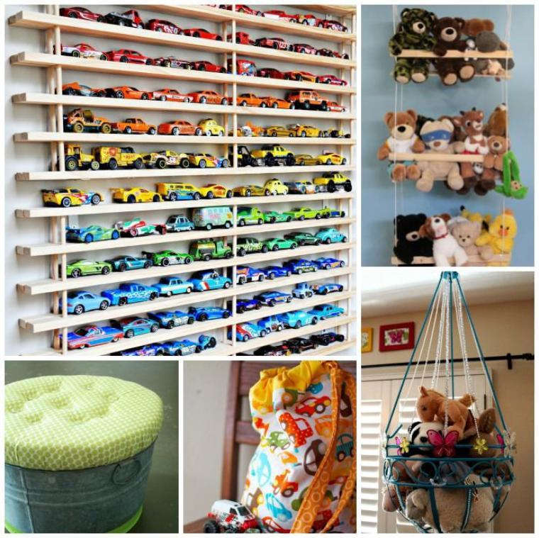 Des idées sympas pour ranger les jouets.
