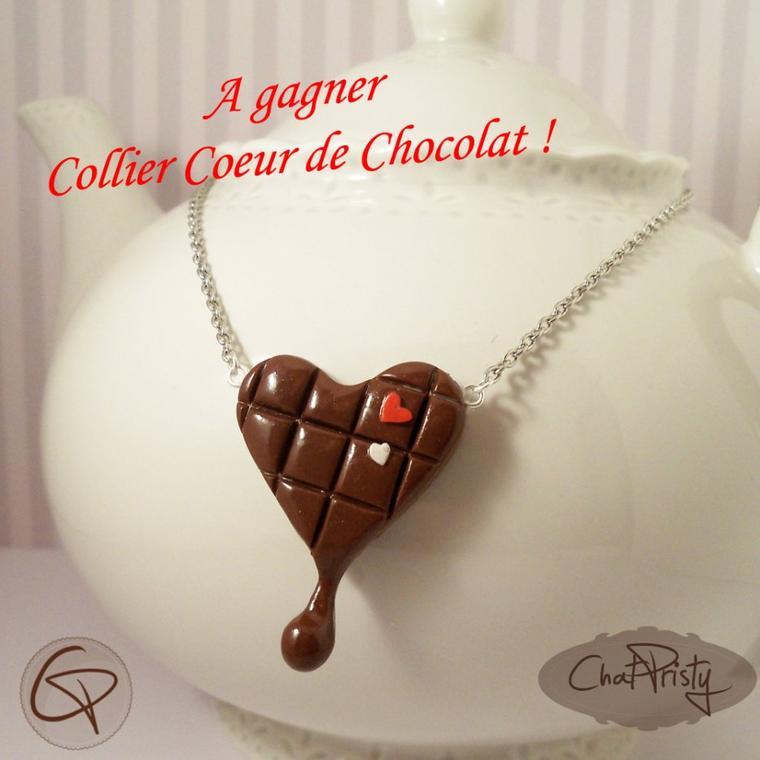 Collier coeur de chocolat !