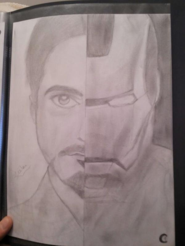 Iron man dessin