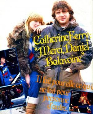 Daniel Balavoine avec Catherine Ferry