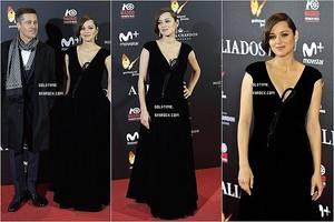 """_ 21/11 : Marion & Brad continuait la promotion de """"Allied"""", cette fois-ci à Londres .  Je trouve Marion sublime dans cette robe, c'est un gros top !. Vos avis ?"""