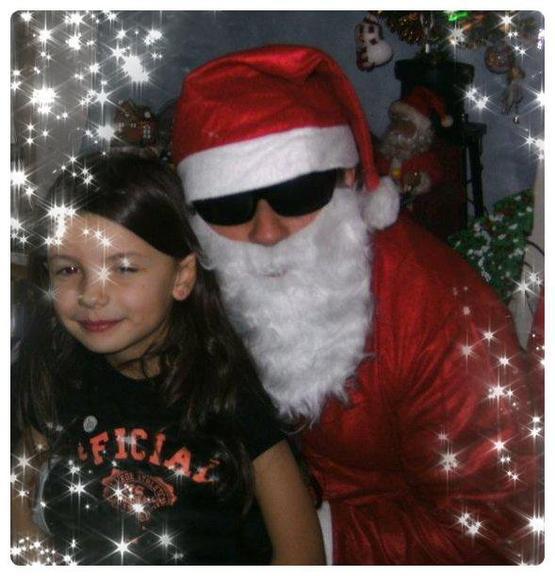 ma petite fille et le pere noel