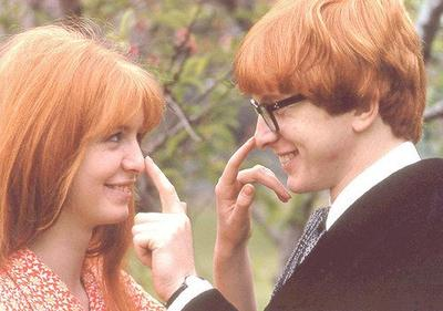 Jane Asher & her brother, Peter Asher.