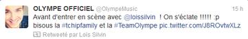 Sur le twitter de Olympe