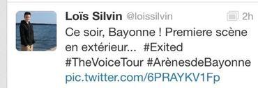 Lois silvin sur THE VOICE à Bayonne