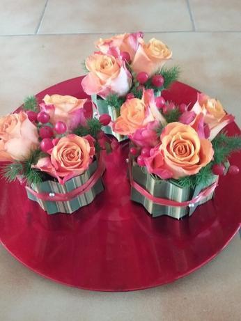 Petits bouquets de table ronds