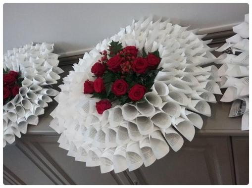 Fleurs sur Rosace en papier